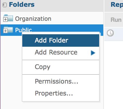 New folder menu