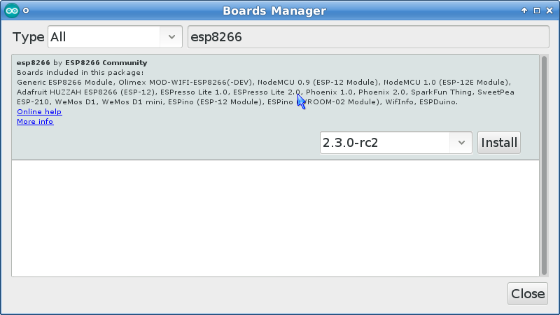 Boardmanager menu